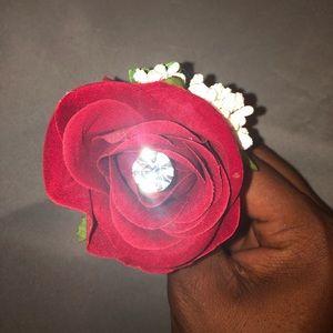 Rose pin for prom weddings etc...